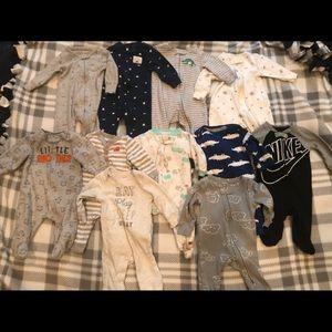 Baby Boy 3 month Pajama Sleepers.
